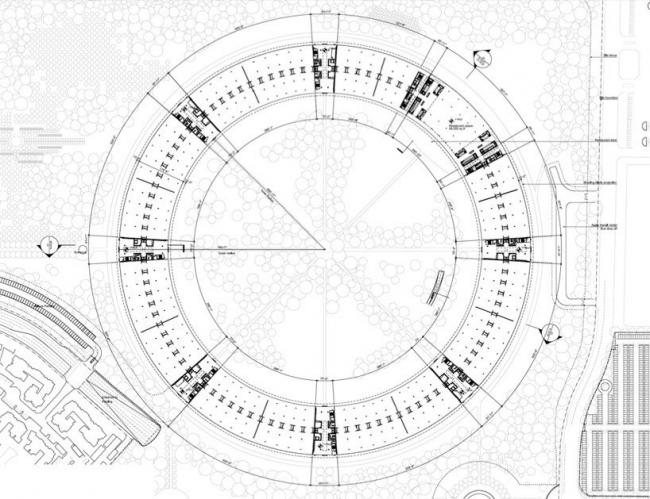 Штаб-квартира компании Apple. План уровня 0 © Foster + Partners, Apple Inc.