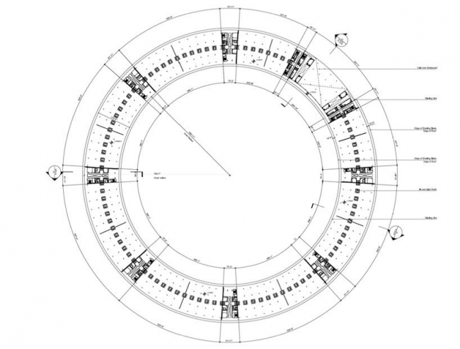 Штаб-квартира компании Apple. План уровня +1 © Foster + Partners, Apple Inc.