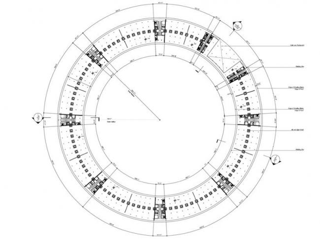 Штаб-квартира компании Apple. План уровня +2 © Foster + Partners, Apple Inc.