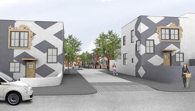 Посёлок Larkin Grove.  Изображение с сайта http://www.bdonline.co.uk/