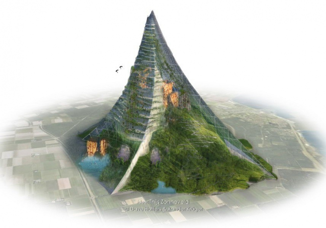 Искусственная гора для Нидерландов. Изображение с сайта hofferskruger.com