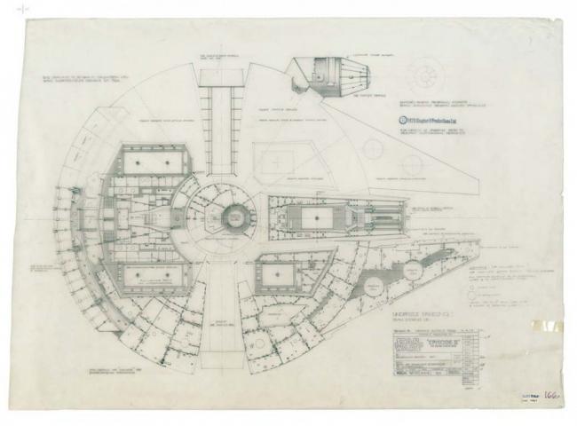 Чертеж космического корабля из книги Star Wars: The Blueprints © 2011 Lucasfilm Ltd.