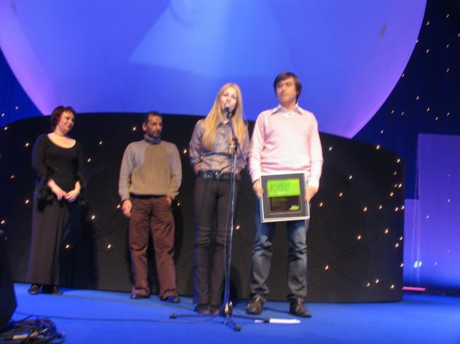 Победители в двух номинациях - Александра Федорова и Алексей Николашин