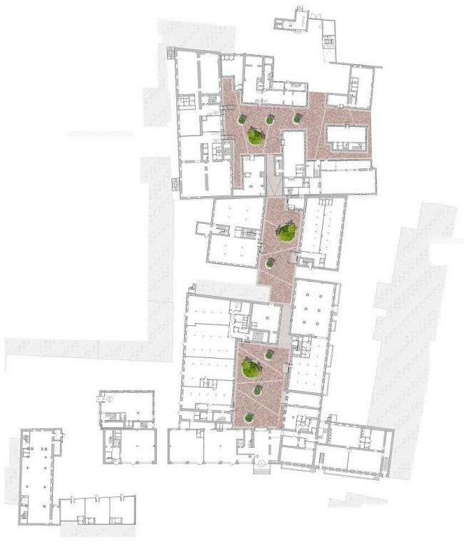 Офисный комплекс Атмосфера (реконструкция).План комплекса. Реализация, 2013 © ADM.