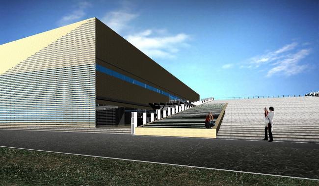 Спортивный комплекс теннисного клуба в составе Национального теннисного центра России имени Хуан Антонио Самаранча © ТПО «Резерв»