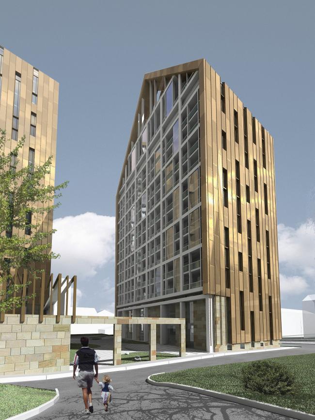 Конкурсный проект высотного жилого дома класса de luxe в Пятигорске