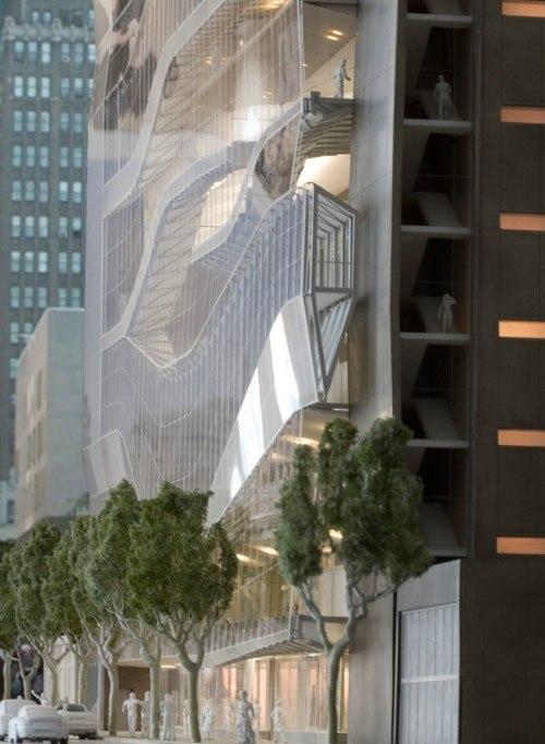 Новый корпус Института моды и технологии. Иллюстрации: SHoP architects