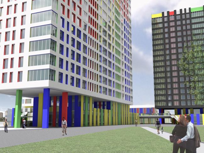 Конкурсный проект жилого комплекса в г. Мытищи