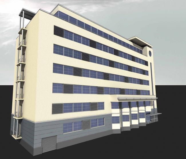 Reconstruction of a building 1920 - the beginnings of 1930th on street Mjasnitskaja, 40, building 17