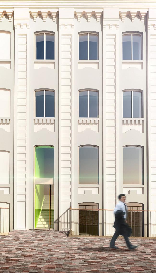 Офисный комплекс Атмосфера (реконструкция). Фасад. Реализация, 2013 © ADM