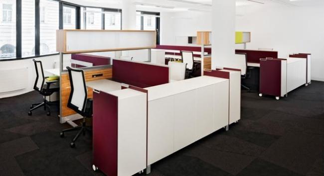 Рабочие места T-plattform, разделительные панели RM