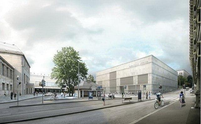Кунстхаус Цюрих - новое крыло. Проект 2011 года © David Chipperfield Architects