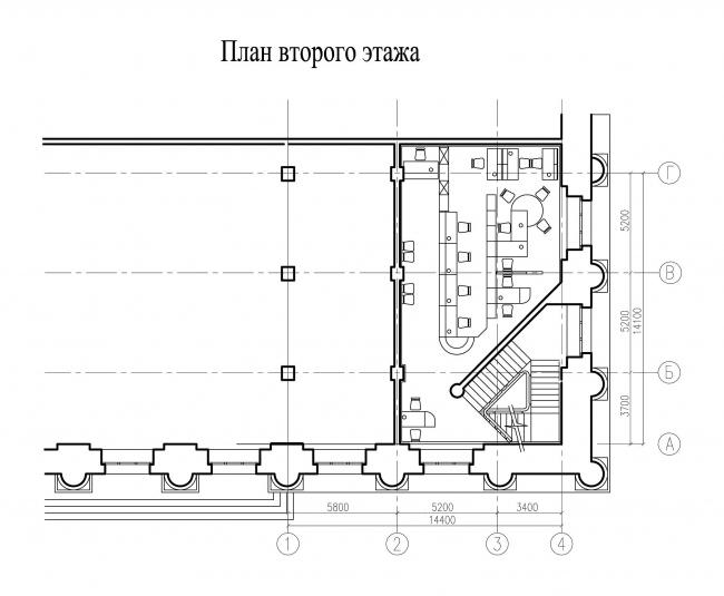 Отделение банка «Менатеп» на Манежной пл., мастерская АСБ Карлсон & К