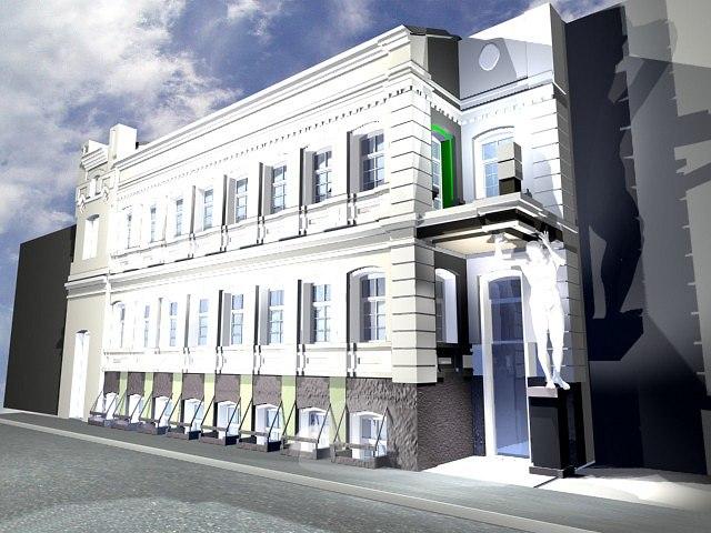 Отделение банка в Пушкарёвом переулке. Проект, 1997 © АСБ Карлсон & К