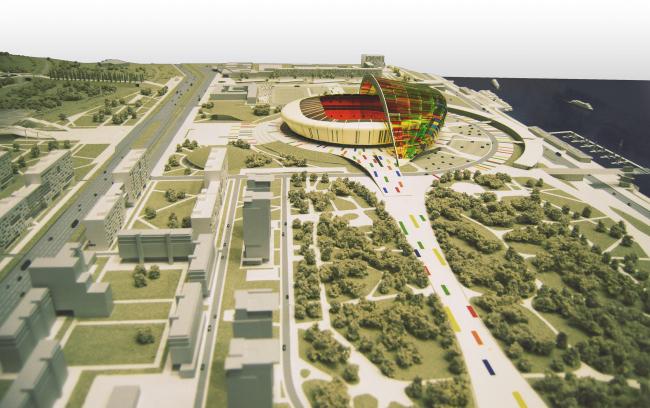 Концепция спортивных объектов и сооружений инфраструктуры Чемпионата мира по футболу 2018 года в Волгограде © Архитектурное бюро Асадова
