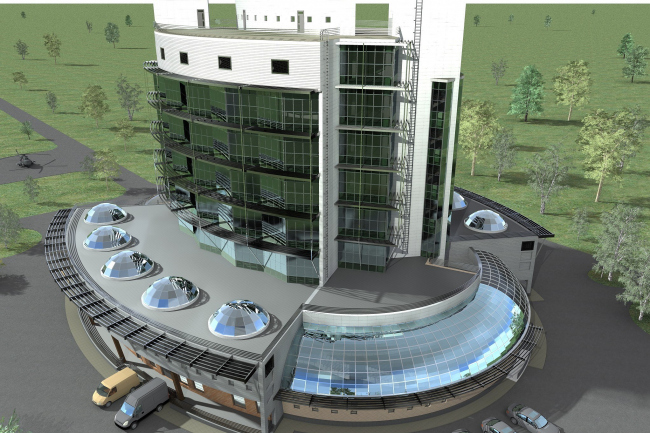 Административное здание на космодроме «Восточный» © ОАО «ИПРОМАШПРОМ»
