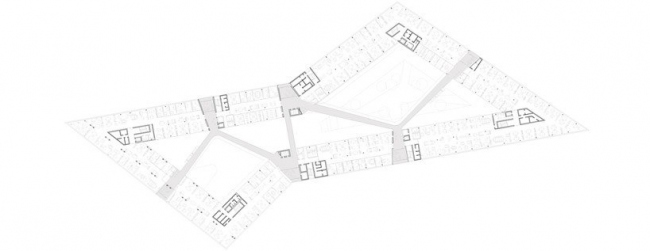 Здание adidas LACES. План уровня 3 © kadawittfeldarchitektur
