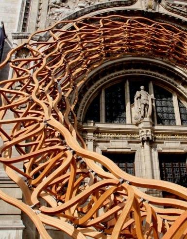 Инсталляция «Деревянная волна» © Stephen Citrone
