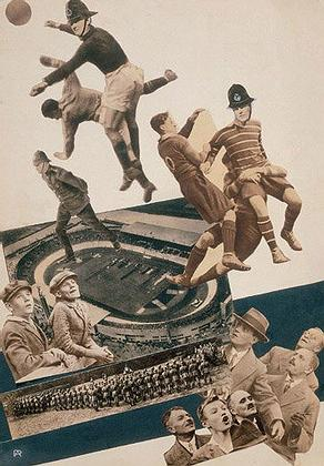 Коллаж «Политический футбол» для журнала «За рубежом» (1930)