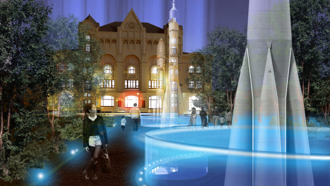 Архитектурная концепция реконструкции здания Политехнического музея в Москве © Архитектурное бюро «Студия 44»