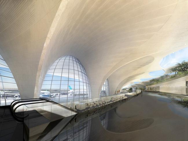 Терминал Международного аэропорта Кувейта © Foster + Partners