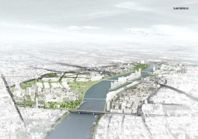 План реконструкции порта Базеля 3Land © MVRDV