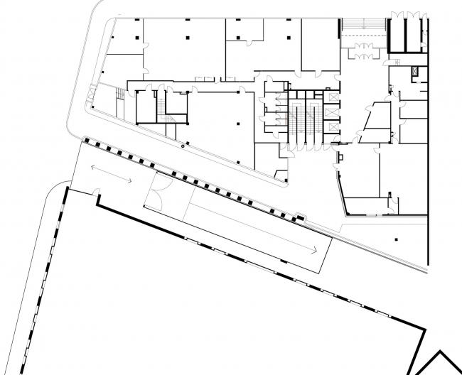 Офисное здание в Бутиковском переулке. План 1 этажа © АБ Остоженка