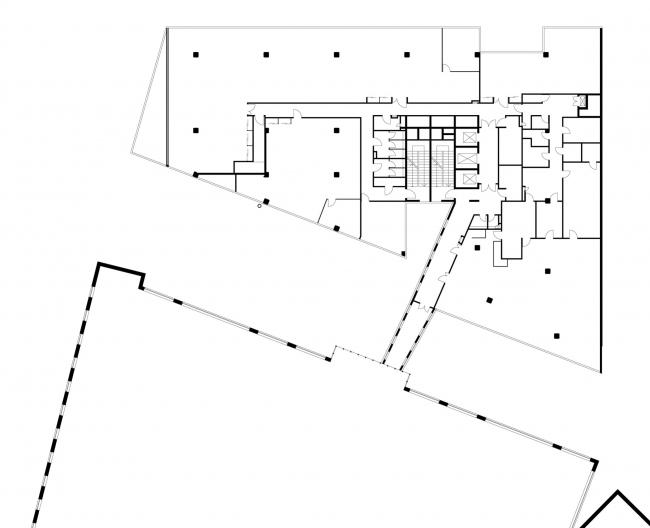 Офисное здание в Бутиковском переулке. План 2 этажа © АБ Остоженка