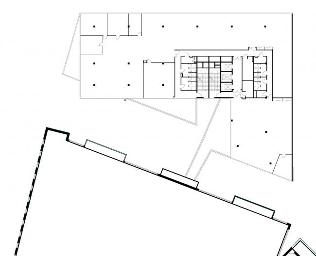 Офисное здание в Бутиковском переулке. План 3 этажа © АБ Остоженка