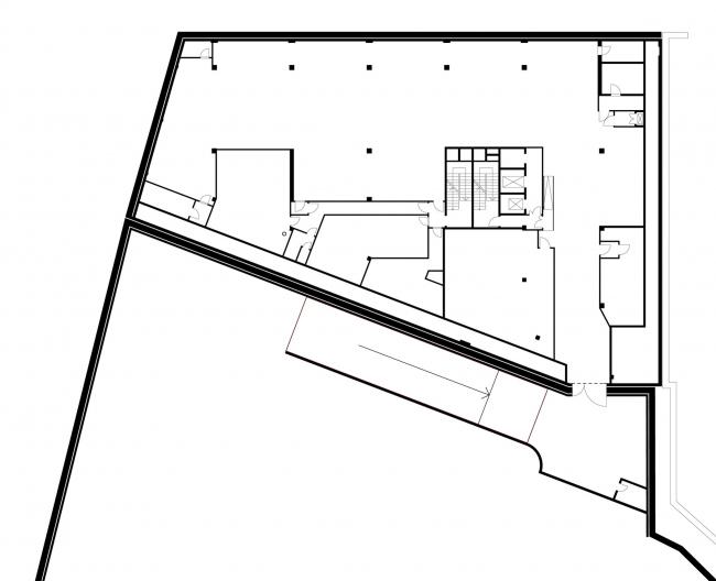 Офисное здание в Бутиковском переулке. План -1 этажа © АБ Остоженка