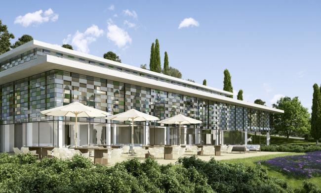 Комплекс Villa Eden Gardone. Здание клуба Clubhouse.Matteo Thun ©Matteo Thun