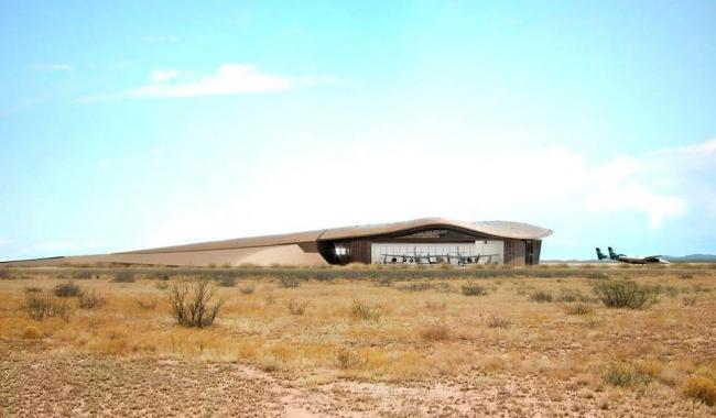 Космопорт Америка в процессе строительства © Nigel Young/Foster + Partners