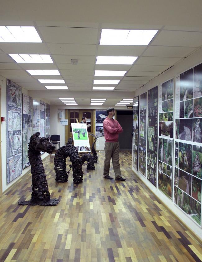 Основная экспозиция фестиваля «Ландшафтная архитектура. Взгляд из дома». Фото А.Мартовицкой