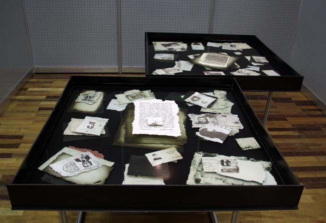 Инсталляция «Биографические данные». Арх.: Наталия Хлебцевич