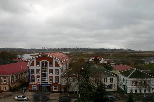 Вид на Нижний Новгород из окон администрации