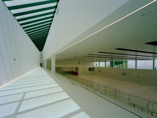 Спорткомплекс Швейцарской высшей технической школы в Цюрихе. Фото с сайта www.dietrich.untertrifaller.com