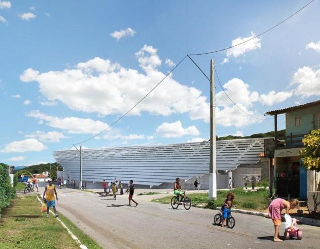 Спорткомплекс школы имени Динарте Мартиса  © Herzog & de Meuron