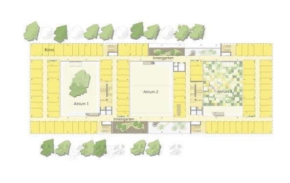 Штаб-квартира ВОИС. План 5-го этажа © Behnisch Architekten