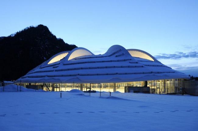 "Конькобежный стадион ""Max Aicher Arena"" – реконструкция © Sabine Schmalfuss"
