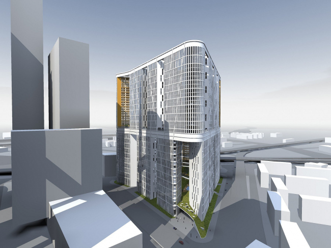 Concept of architectural development of the site 17-18 Moscow-City