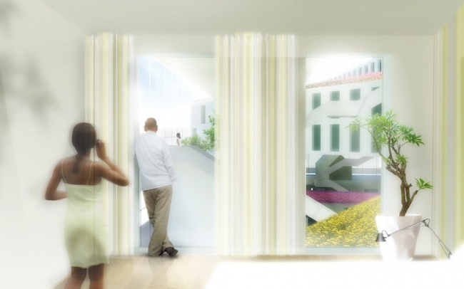 Гостиница Flowerbed Hotel © MVRDV