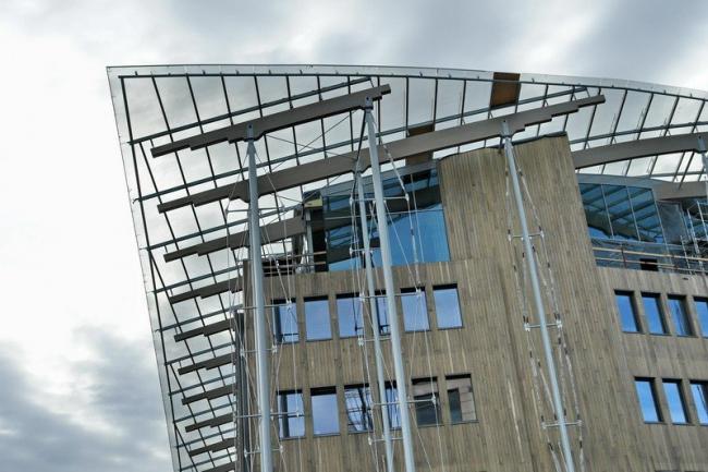 Музей современного искусства Аструп-Фернли в процессе строительства. Фотография © Нина Фролова