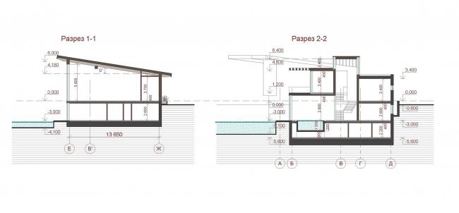 Индивидуальный жилой дом в поселке «Антоновка». Проект, 2011 © PANACOM