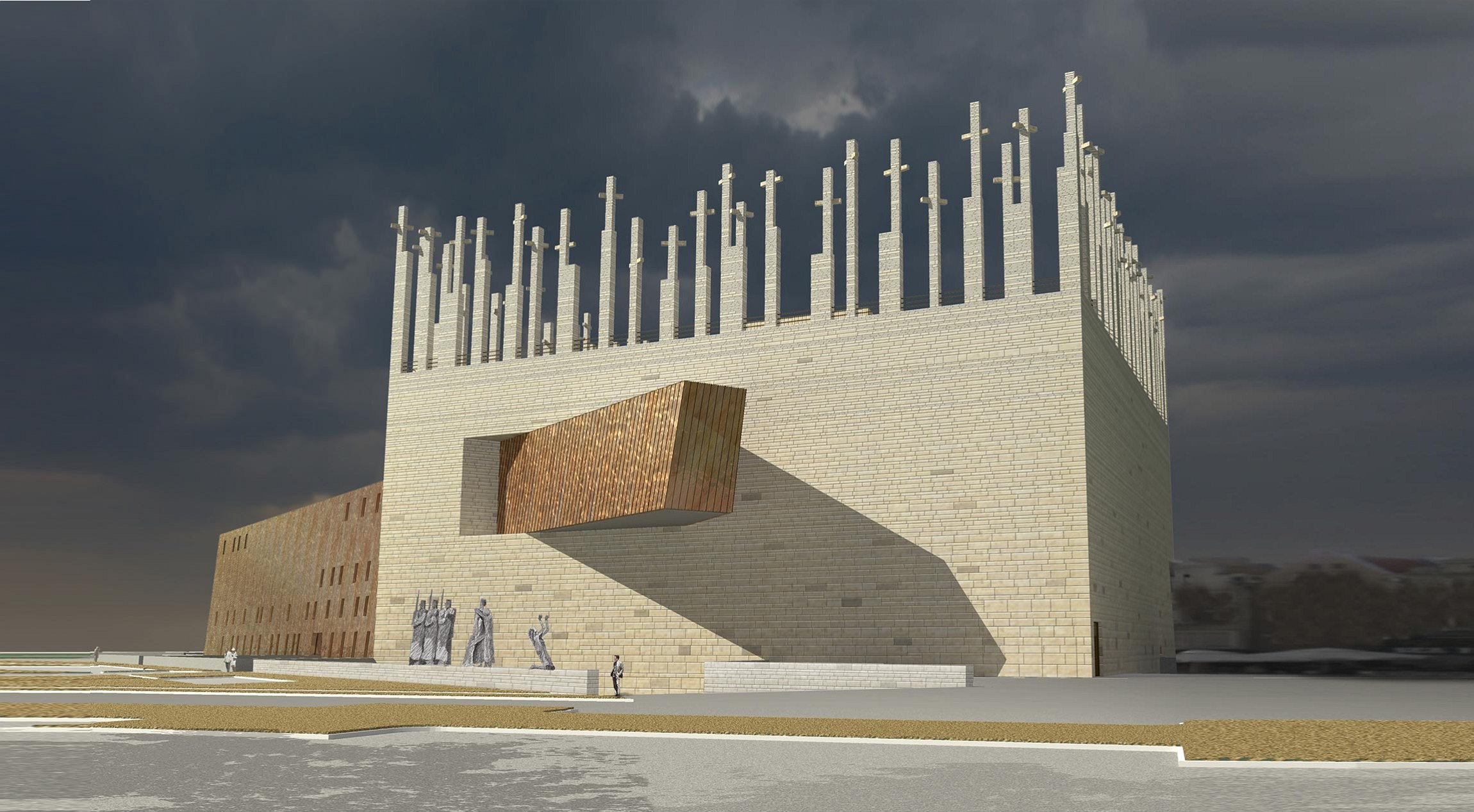 World War II museum in Gdansk  Contest project  Concept