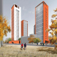 Concept of the residential complex on the Rublevskoe Highway (Sergey Skuratov architects), Moscow