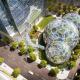 Экоцентр The Spheres в штаб-квартире компании Amazon