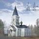 Храм Вознесения Господня в поселке Гвардейское Ленинградской области,