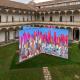 «ДНК города»: инсталляция во дворе Миланского университета, Милан