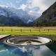 Бассейн с видом на Альпы