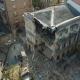 Момент внезапного обрушения старинного здания в Одессе попал на видео